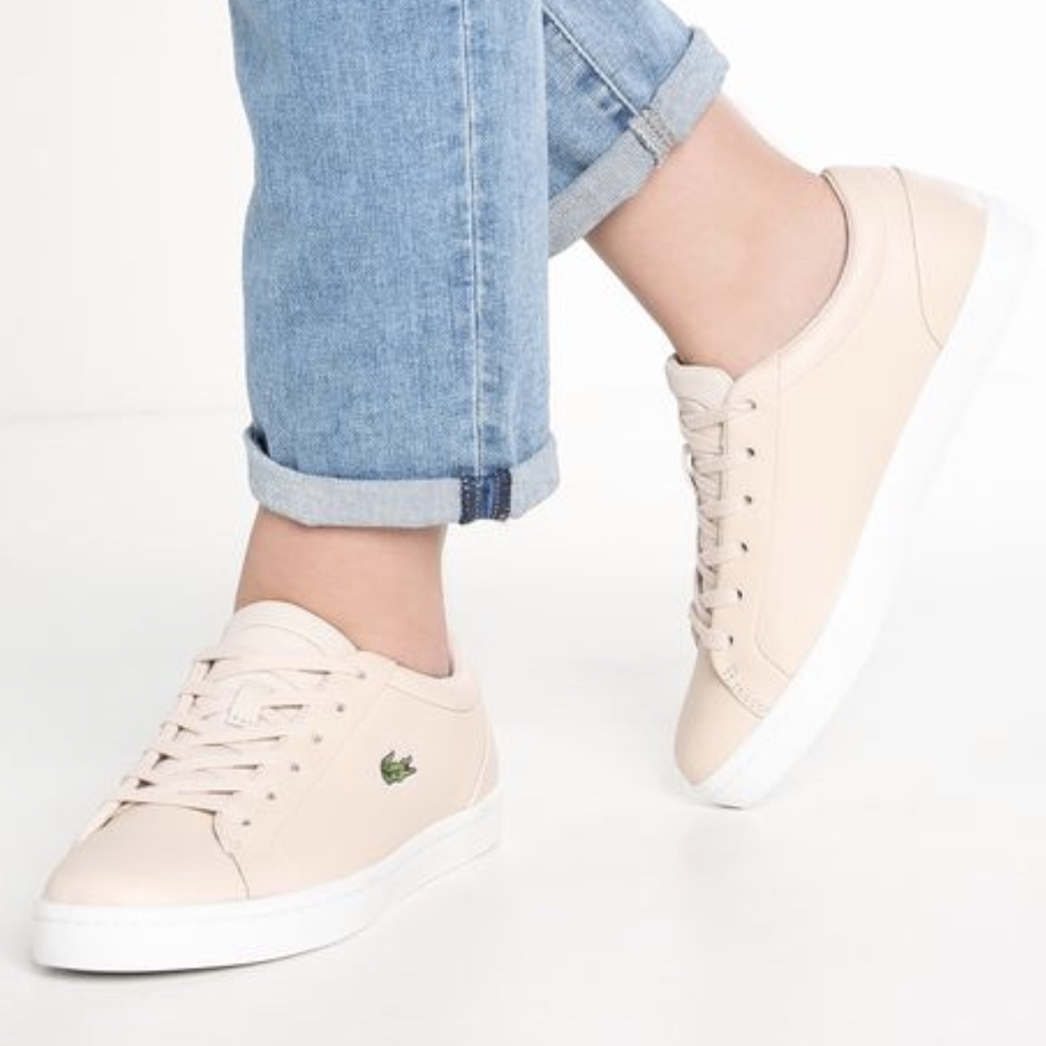 Lacoste Straightset trainer in Light