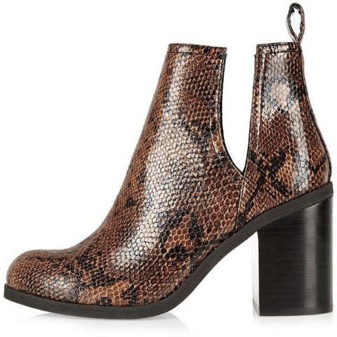 8075be22f6b0 RIVER ISLAND CHUNKY SNAKESKIN ANKLE BOOTS - Message before x - Depop