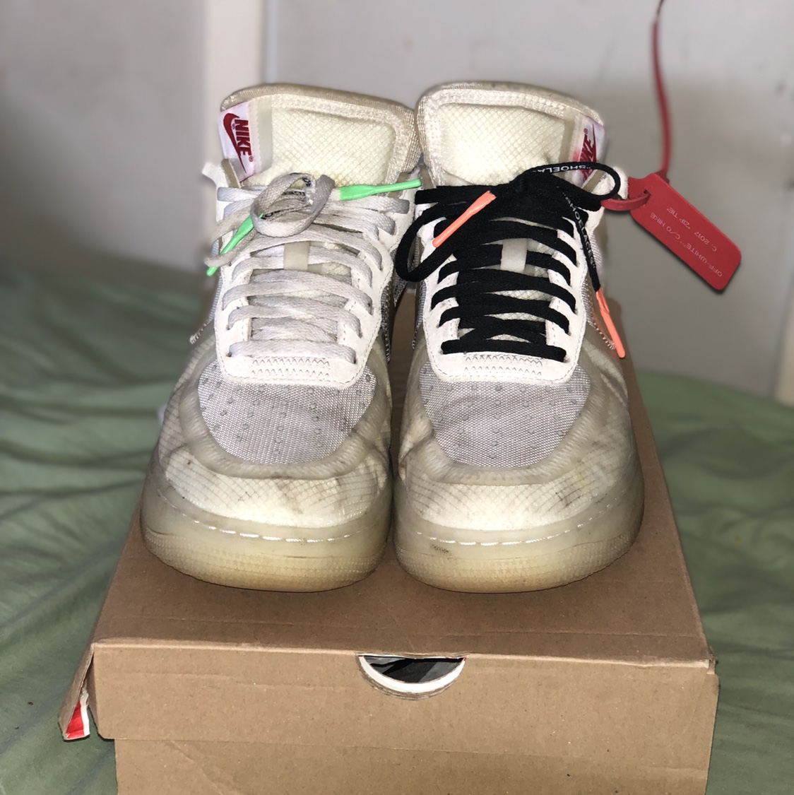 Air Force 1. 5/10. Been worn quite