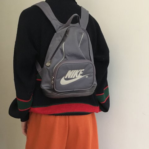 3c996fcaf78 Nike mini backpack purple grey colour w logo on front good I - Depop