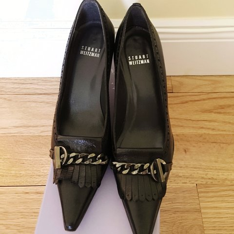 a6082f27f46 Gorgeous leather black pumps by Stuart Weitzman. Oxford with - Depop