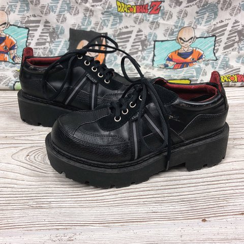 83650ffed3 Mudd vintage 90s   y2k black chunky heel platform lace up do - Depop