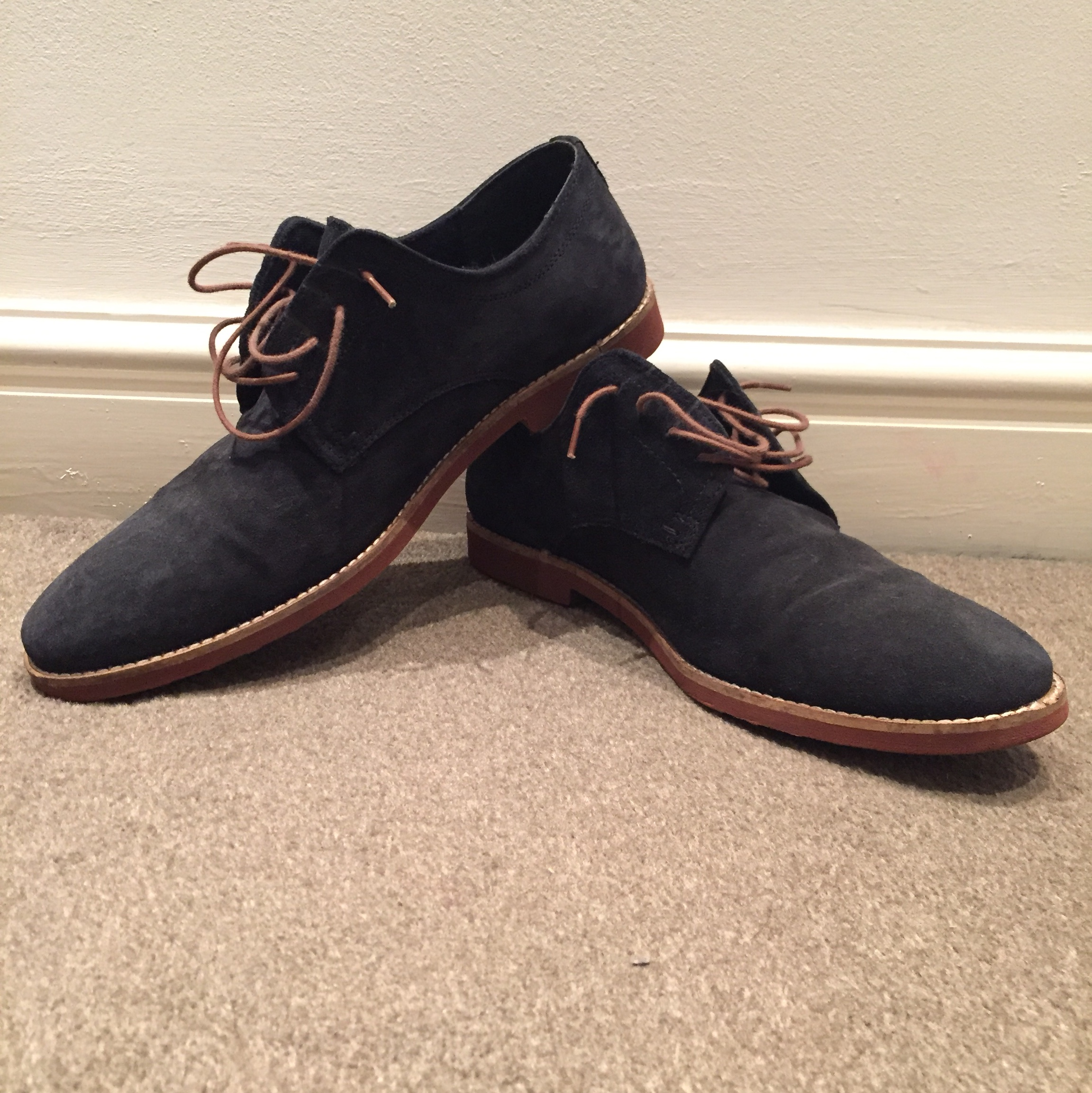 Red Tape Mens Navy Blue Suede Shoes