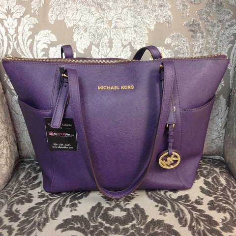 d3bff26c7549ea @allyourbliss_com. 4 years ago. McAllen, TX, USA. Beautiful Michael Kors #purple  Tote, comes with ...