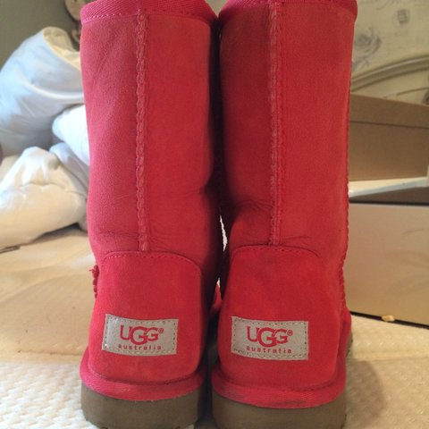 be6d0c937dd1 Red suede Ugg Boots size 4-5. Worn twice  Uggboots  Red  NYC - Depop