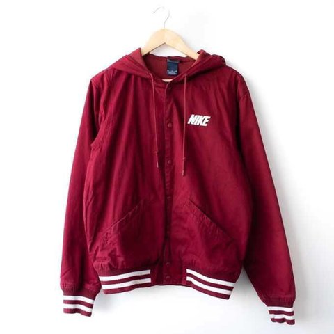 a681f7f38 @forestfashion. 8 months ago. Cheltenham, United Kingdom. Vintage Nike  Coach Jacket | Burgundy Red