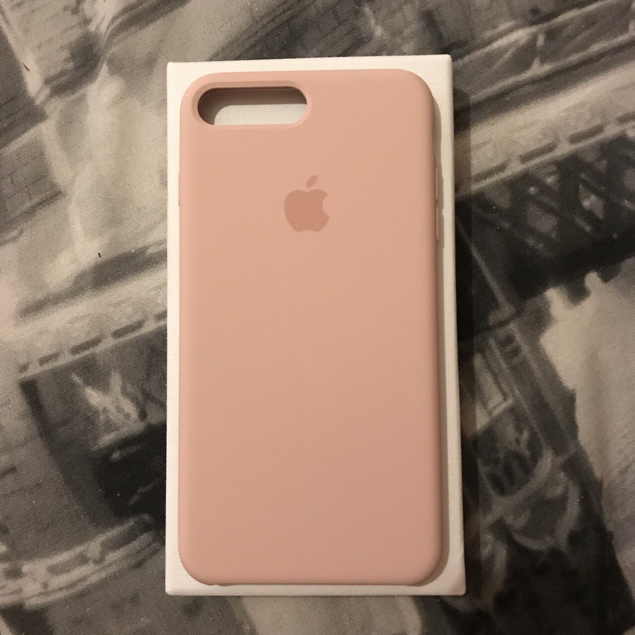 Pink sand iPhone 7 Plus silicone case  Brand new,    - Depop