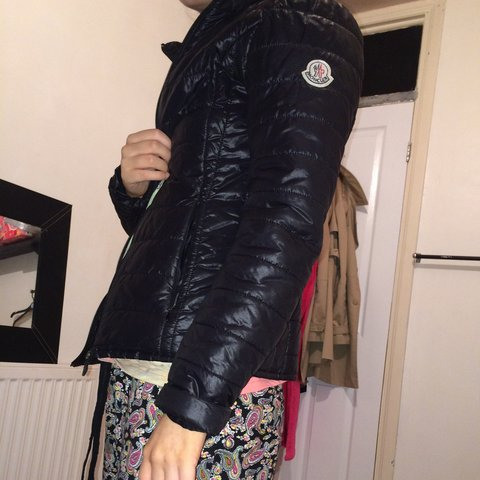 fb40b9bda461 Selling on my eBay moncler jacket size 0 used in good small - Depop