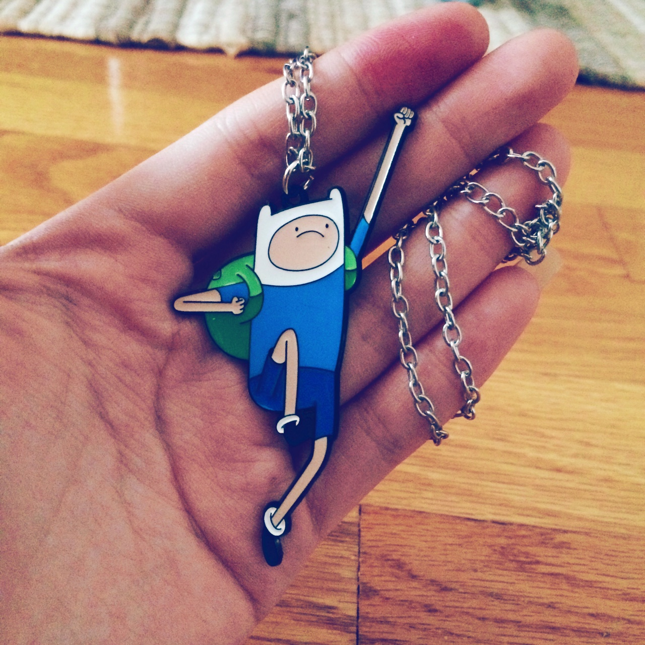 Adventure Time Finn And Fionna adventure time finn the human necklace from hot - depop