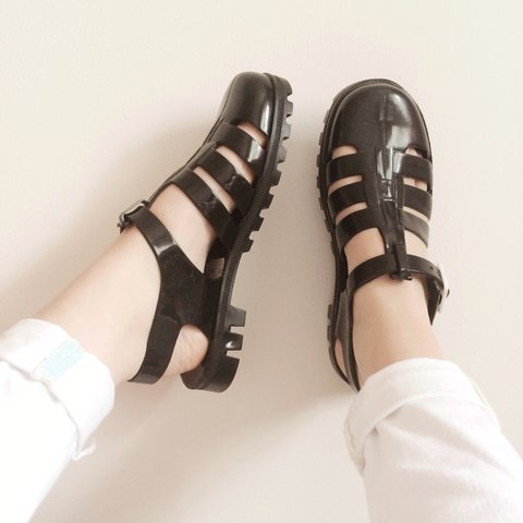 3c2f339da712 Real JuJu jelly shoes bought from TOPSHOP for £20. Selling - Depop