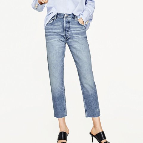 019c757982 @happilyalina. 2 years ago. Jeannette, United States. Zara High Rise  Relaxed Fit Straight Leg Jeans never worn ...
