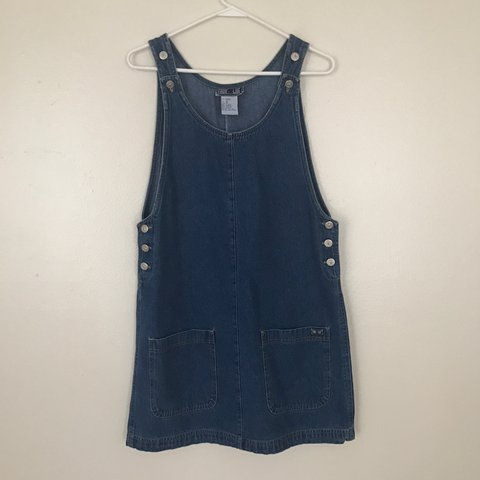 d0a7efd2143  4bunny. last year. United States. 🍄 true blue vintage denim overalls dress  🍄