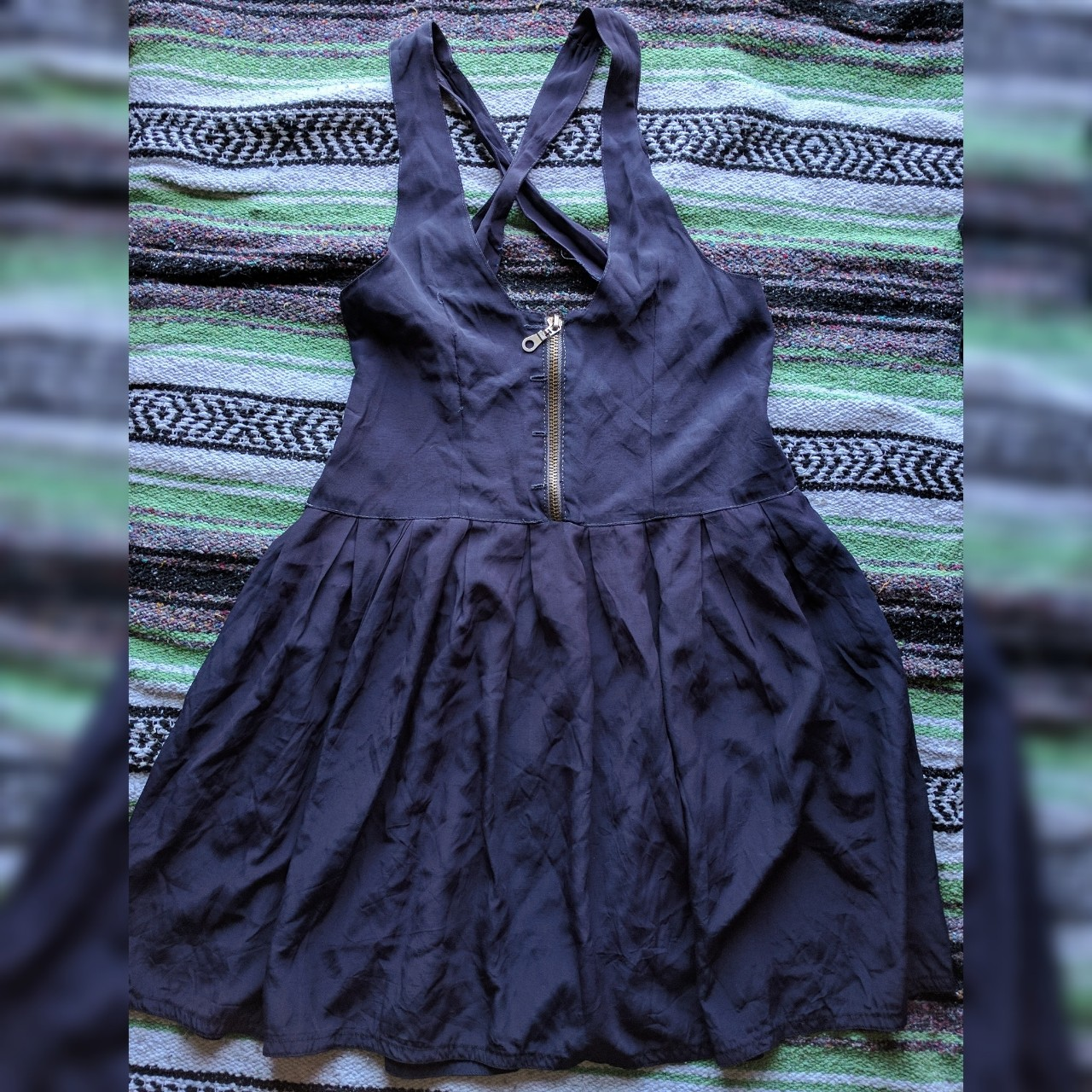 f77c6ccaebe20 Reworked vintage pinafore dress made