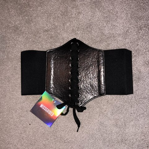 709ac4a6b6e MISSGUIDED Faux Leather Corset Belt - ONE SIZE. Never worn a - Depop