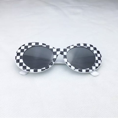 0e6447613ed01 checkered clout goggles in black or yellow message me to - Depop