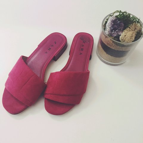 aa0b173faa8 Zara Trafaluc slides in magenta. Only worn a couple times