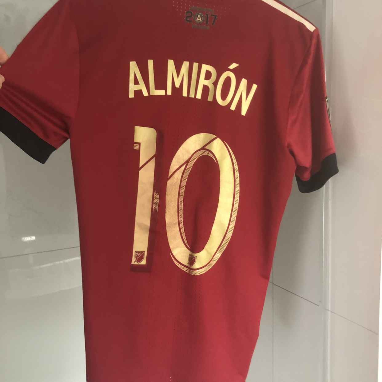 sneakers for cheap a15fe 748ce MLS Adidas Atlanta United FC jersey. Size S.... - Depop