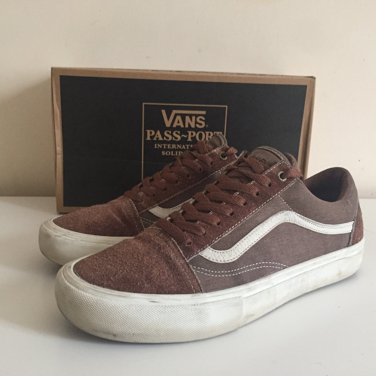 ff40b4cb80 Vans x Passport oldskool pro size 10 shoes bought back in of - Depop