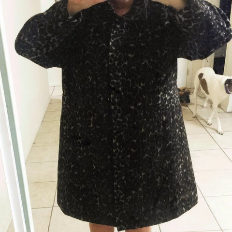 b21df393d079 @fancybananapants. 4 years ago. Henderson, NV, USA. PLUS SIZE- Old Navy- leopard  peacoat. Zip closure ...