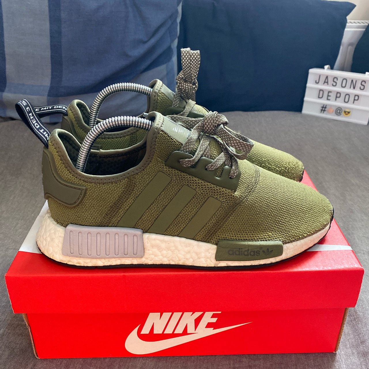 Used Adidas NMD trainers in Khaki Green colour. UK...