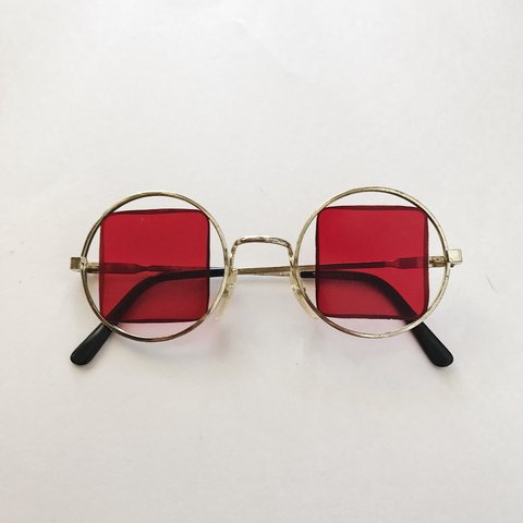 1d130f2411 Vintage red tinted sunglasses Some signs of wear in age