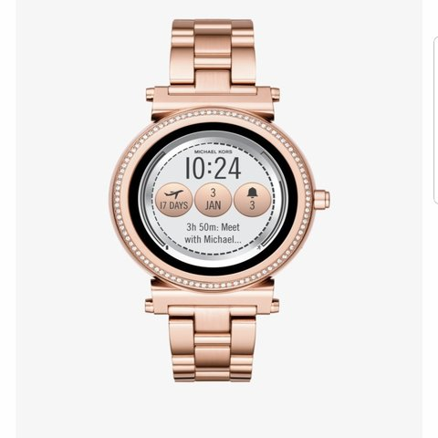 6a8278962a71 Rose gold Michael Kors Smart watch in perfect condition. is - Depop