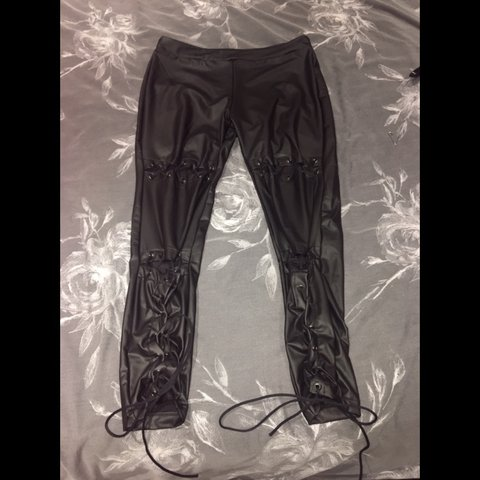 ec0cec5f1b9525 @ellecurwood. last year. Bexleyheath, United Kingdom. Faux leather leggings  ...