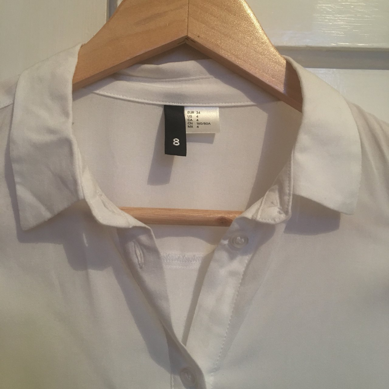415ff41c6 Oversized white cotton H M blouse shirt. I ve worn this once - Depop
