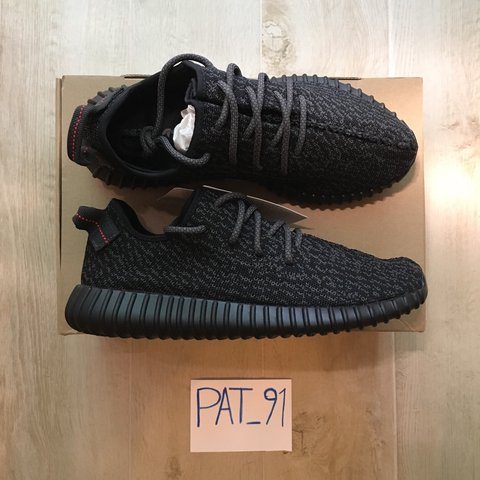 7d66dfdd3468e Adidas Yeezy Boost 350 Pirate Black 1.0 DS 9 US - 8 1 2 UK - - Depop