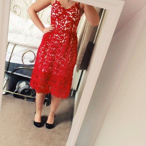 950531744b0a @grace192. 3 years ago. United Kingdom. Self portrait inspired red azalea  dress.