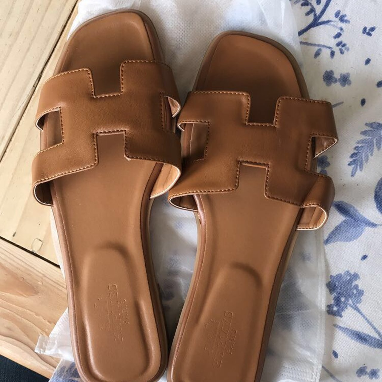 668a34db116 Hermes brown leather sandals size 6. Brand new never worn. x - Depop