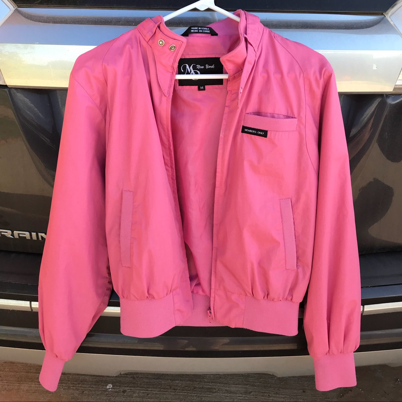 1d04438ffd83 perfect condition pink jacket!! size medium!! perfect if a a - Depop