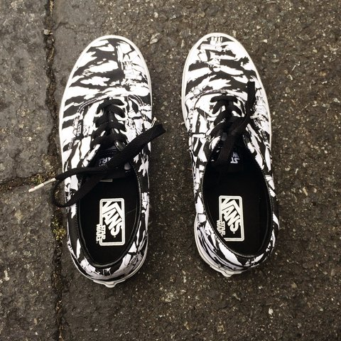 2f48d9b7a5 Vans unisex era in (Star Wars) dark side   storm camo. Worn - Depop