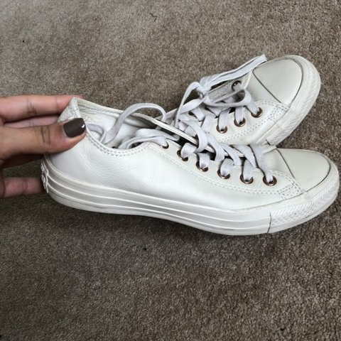 30544b1207 Nude pale pink converse in a size 5. Converse vans trainers - Depop