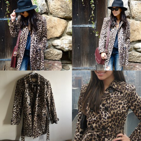 a1ddadb081a3 @moonshine122. last year. Queens County, United States. Gorgeous #leopard  print #MichaelKors #trench coat ...