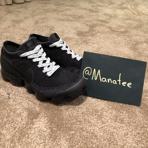 cae5d019a Nike Vapormax 1.0 Triple Black Doesn t come with original a - Depop