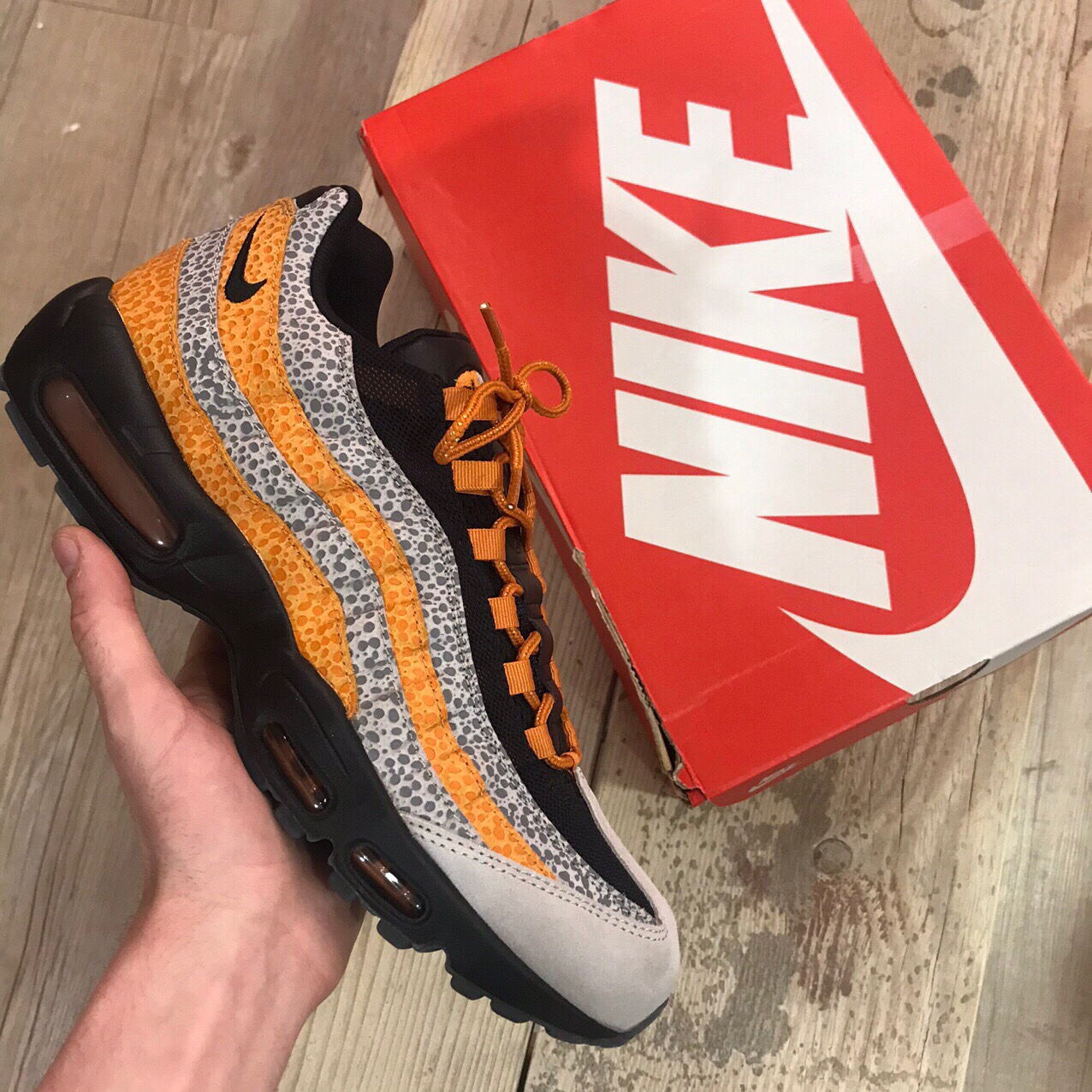 bomba Increíble Ingenioso  Nike Air Max 95 Safari Size? 2018 Brand new with... - Depop