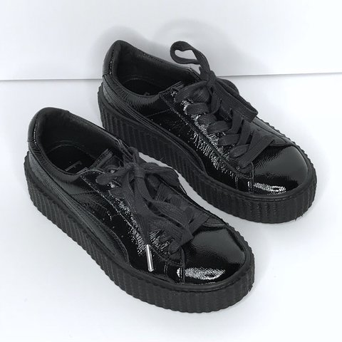 2d7a61c8127 black patent fenty x puma creeper sole sneakers ❣ amazing ! - Depop