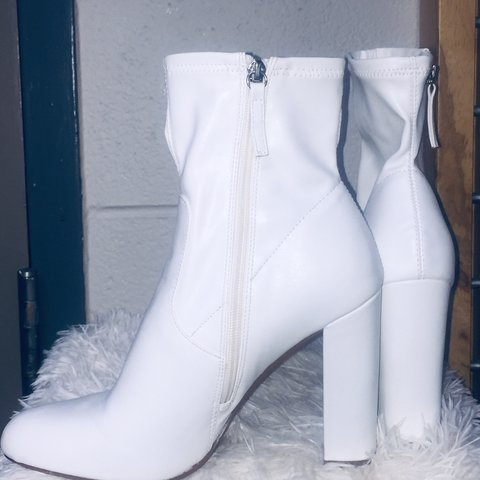 2d7b6840e20 White madden girl ankle boots. Worn once for my birthday 🥳. - Depop