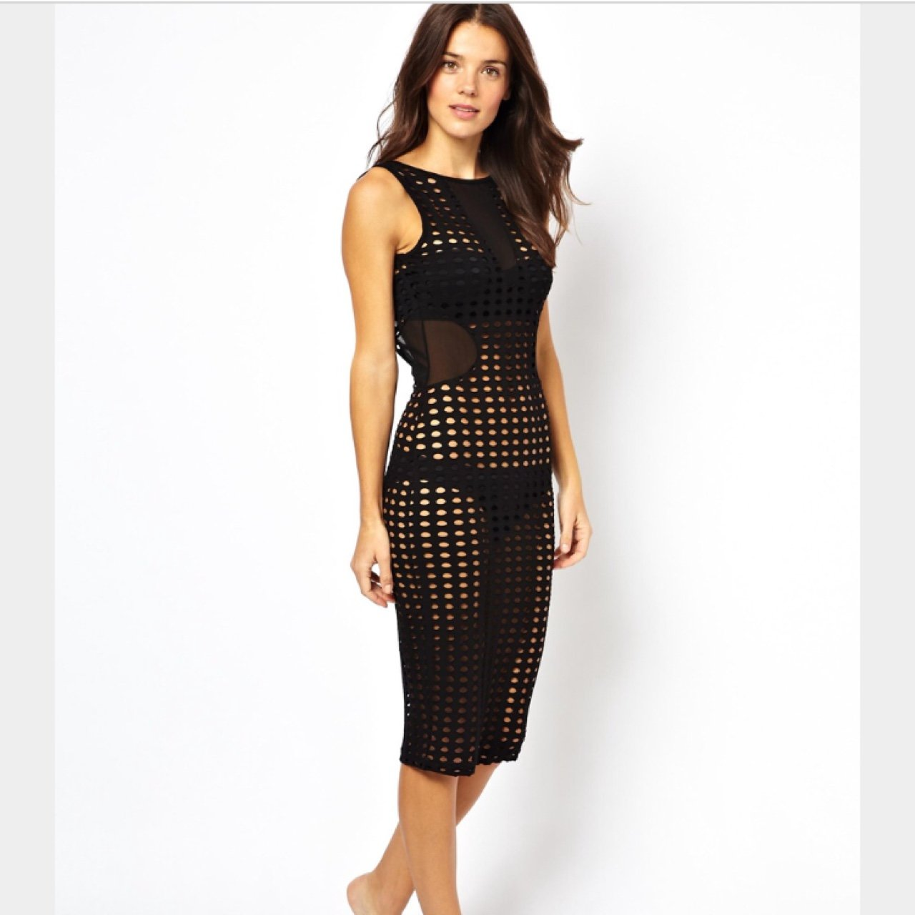 c00228f313336 @camillon04. 10 months ago. Lake Mary, FL, USA. ASOS black netted beach  bathing suit cover up.