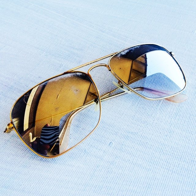 ray ban gold filled