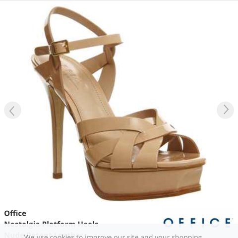 ff50597bb19 Office nude patent YSL style heels. Surprisingly the heels a - Depop