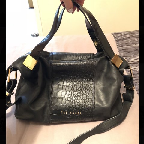 0f338ccaabf0 Ted baker black real leather bag Soft black leather with of - Depop