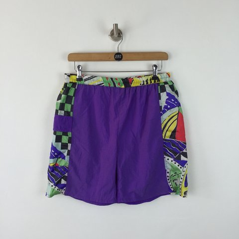 38d0988f91 Vintage 90s Swim Shorts / no size tag but fit like a large / - Depop
