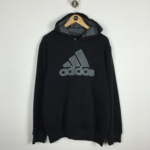 adidas hoodie with logo on back