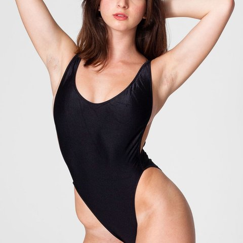 6c22ded0c7 American apparel nylon tricot one piece swimsuit in black. a - Depop