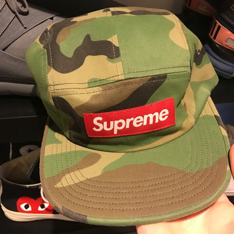 ea536465 @chrisseddon. 2 years ago. Gloucester, United Kingdom. WTS Supreme Washed  Chino Twill Camp Cap In woodland camo colourway