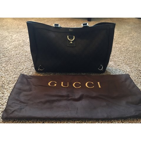 6a064a532a1b Authentic Gucci GG Supreme Monogram Large Tote. Work only to - Depop