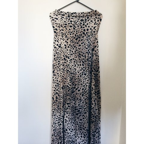 2079b9c023 ASOS  bandeau maxi dress in leopard print! Never worn  ) M - Depop