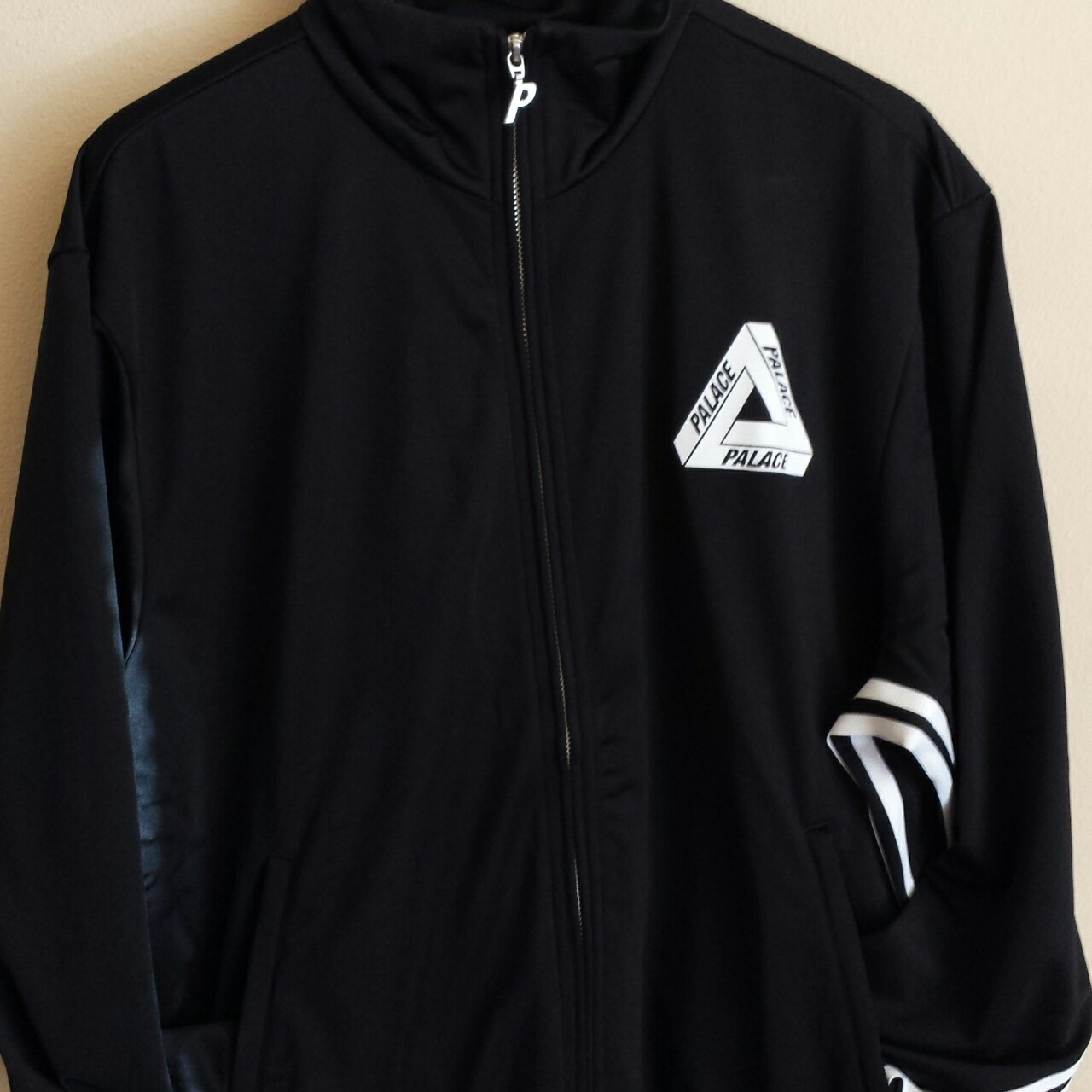 Palace x Adidas Firebird Track Top Jacket in Black Depop